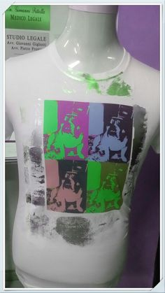 Tshirt stampata in sublimazione coneffetto metallizzato xon foil colore verde
