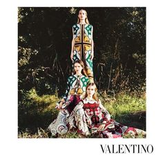 From the new Valentino Spring/Summer 2015 ad campaign. Photographed by Michal Pudelka. Posted by Miason Valentino on Instagram.