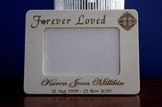 Frame Forever Loved Memorial Wood for 6 x 4 Photos Photo Engraving, Laser Engraving, Pet Loss Gifts, Photo Ornaments, Heart Ornament, Photo On Wood, 4 Photos, Forever Love, Sweet Girls