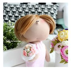 portrait textile doll for mother by eva-dolls.com