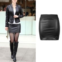 New Arrival Fashion Sexy Women Bodycon Skirt Top Quality PU Leather Mini Short Skirt Black Classical Style Design(China (Mainland))