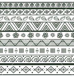 Cool patterns to draw cool easy to draw patterns tribal striped hand drawn seamless pattern vector . cool patterns to draw Cool Patterns To Draw, Doodle Patterns, Tribal Patterns, Zentangle Patterns, Art Patterns, Islamic Patterns, Line Patterns, Mandala Art, Mandala Drawing