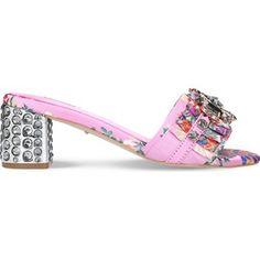 Carvela Kascade embroidered heeled sandals