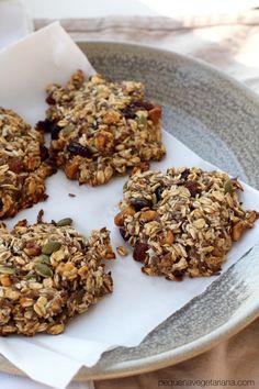 cookies de aveia para o cafe da manha, receitas veganas, cookies veganos, cookies saudaveis, receitas funcionais, cafe da manha simples, pequena vegetariana