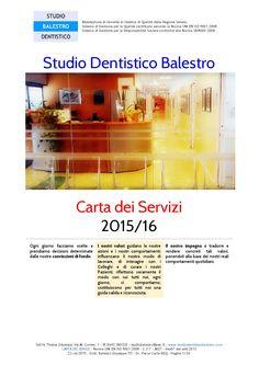 Carta dei Servizi  Studio Dentistico Balestro