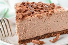 Easy, no-bake chocolate cheesecake Chocolate Souffle Cake, No Bake Chocolate Cheesecake, Chocolate Cake, No Bake Desserts, Easy Desserts, Dessert Recipes, Food Cakes, Nougat Cake, Mousse Au Chocolat Torte