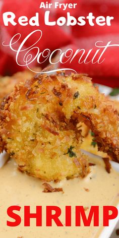 Serve up this Air Fryer Red Lobster Copy Cat Coconut Shrimp for dinner tonight. Crunchy and perfectly cooked battered shrimp. Air Fryer Recipes Snacks, Air Fryer Recipes Low Carb, Air Fryer Recipes Breakfast, Air Frier Recipes, Air Fryer Dinner Recipes, Fried Coconut Shrimp, Coconut Shrimp Recipes, Shrimp Recipes Easy, Seafood Recipes