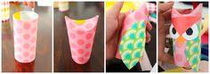 Nuestro Mundo Creativo: Búhos hechos con rollos de cartón reciclado