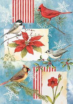 Winter Garden Birds - 28 Inch By 40 Inch Large Decorative... http://www.amazon.com/dp/B00906WP8K/ref=cm_sw_r_pi_dp_iZrpxb19G8YHF