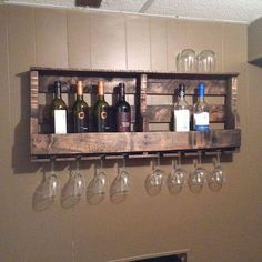 Intelligent Ideas Of Pallet Projects For Home Bar