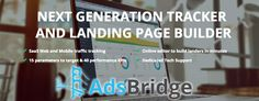 AdsBridge is a unique affiliate tracking tool that offers some interesting features you will have a hard time finding on other tools such as their landing. Landing Page Builder, Tracking Software, Tech Support, Being Used, Affiliate Marketing, Campaign, Tutorials, Ads, Learning