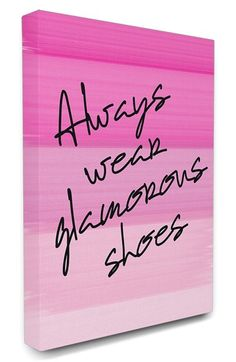 LulusimonSTUDIO 'Glam Shoes' Canvas Wall Art available at #Nordstrom