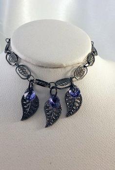 Gunmetal Swarovski Crystal Bracelet - Jewelry creation by K. Crystal Bracelets, Jewelry Bracelets, Metal Jewelry Making, Swarovski Crystal Beads, Affordable Jewelry, How To Make Beads, Jewels, Chain, Gun