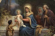 Blessed Virgin Mary with Jesus, St. Anne and St. Joachim
