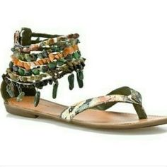 Zigi Girl Beaded Sandals Worn but in good condition as shown by pictures. No size marked but I'm pretty sure they are a size 7 in women's. ❌NO HOLDS NO TRADES❌ Zigi Girl Shoes Sandals
