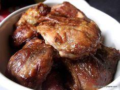 Friptura taraneasca de porc cu untura, ceapa si usturoi - la cuptor. Reteta veche de friptura simpla ardeleneasca facuta din bucati de carne. Cum se face