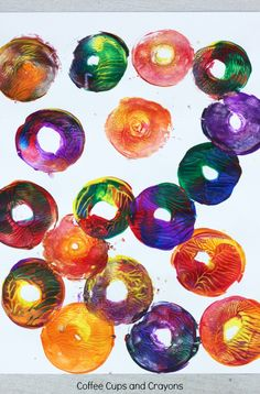 Twisty CD Action Art Activity for Kids! A fun and action packed art activity from the book Action Art by MaryAnn Kohl!