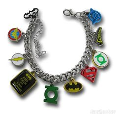 Images of DC Comics Hero Charm Bracelet