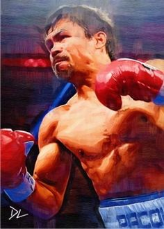 Manny-Pacquiao-Boxing-Artist-Sketch-Card-Artist-Signed-Rare-Limited-Serial-5-5