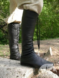 "Medieval fantasy high ""Forest"" boots"