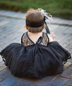 I didn't know they made baby dresses this cute! Baby LBD :)