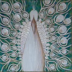 "'Royal Peacock' by sravanthi setty | $250 | 20""x 20"" | Original Art | https://www.arttwo50.com/buy/art/royal-peacock"