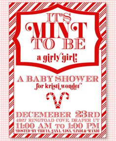 #Christmas baby shower #invitation from: babyshower.com #christmasbabyshower