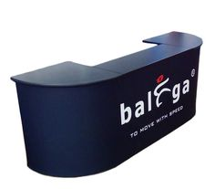 Order a custom portable pop up counter with your logo & graphic.