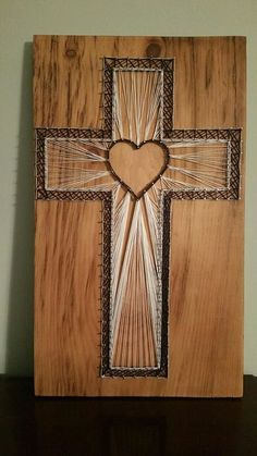 Christian cross string art - design your own! by dhstringtheory on etsy https:/ Nail String Art, String Crafts, Nail Art, Crafts To Make, Arts And Crafts, Art Crafts, String Art Patterns, Doily Patterns, Dress Patterns