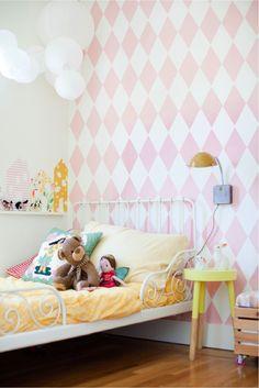 sweet little girl bedroom corner Pink Bedroom For Girls, Big Girl Bedrooms, Little Girl Rooms, Lit Metal Ikea, Ikea Toddler Room, Toddler Room Organization, Scandinavian Kids Rooms, Master Bedroom Interior, Bedroom Furniture