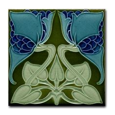 """Liven up any room or party with our fun, hip tile coasters, measuring 4.25"""" x 4.25"""" and 1/6-inch thick. $10.00 - My guess is we could take of the back and still use it as a tile."""