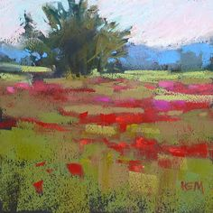 'Up in the Blue Ridge'      6x6      pastel      ©Karen Margulis  click here to purchase $50   I don't want to paint every...