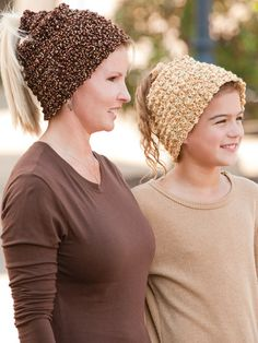 Ponytail Hats....really clever huh? Luv it <3 #crochet -epatterns