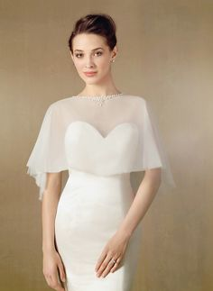 Wedding Dresses, Bridesmaid Dresses, Prom Dresses and Bridal Dresses Alfred Angelo Wedding Capelet - Style 2461 [2461] - Alfred Angelo Wedding Capelets, Spring 2014. Net Caplet with Crystal Beading & Pearls. Dress is not included.