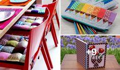 Inspírate en estas 12 increíbles formas de utilizar la tela y verás que asombrarás a todos con estas súper ideas. Utiliza la técnica de patchwok. Toddler Bed, Sewing Projects, Patches, Gift Wrapping, Ideas Manualidades, Fabric, Gifts, Furniture, Amy