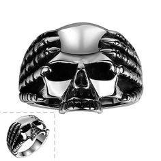 Best Gift maya rings for men ghosts head anillos to.us bear Jewelry European Style MAYAR086