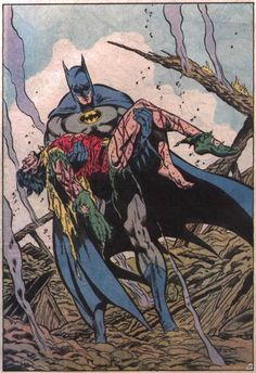 Death of Jason Todd, the second robin...later resurrected as Red Hood~who is similar to batman only uses lethal force and guns