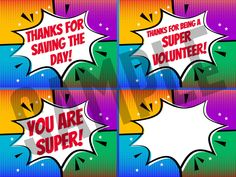 Remind the kids in your ministry how SUPER they are or wish them a SUPER birthday with these hero-themed postcard designs for kids. Volunteer Appreciation Gifts, Volunteer Gifts, Volunteer Ideas, Becoming An Event Planner, Planning And Organizing, Bible Activities, Postcard Design, Best Part Of Me, Teaching Kids