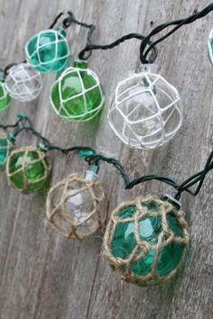 Glass float string lights - Ocean Styles Beach Decor