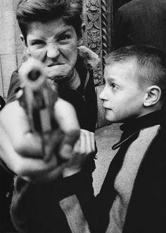 William Klein  Gun 1, New York  1955  © William Klein