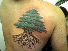 Evergreen Tree Tattoo | tattoo # tree # tree tattoo # gpoy