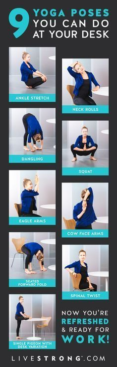 9 Yoga Poses You Can Do at Your Desk Right Now http://www.yogaweightloss.net/best-yoga-position/
