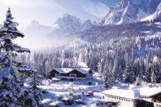 Wintercamping im Caravanpark Sexten, Südtirol