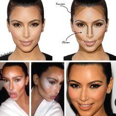 Maquiagem - contorno para rosto #TruqueKardashian - Blog | Amey
