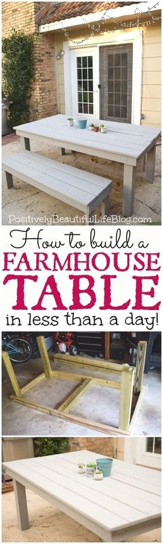 I have been wanting some outdoor furniture for a long time. I finally talked Mr.PBL into helping me build a farmhouse patio table. I wasn't sure how it would come out, but I have to…Continue Reading… #WoodworkingDIY
