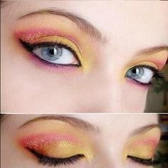 heh this is almost my make up today, make that pink more orange and BAM. I like it.