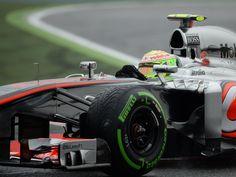 Sergio Perez during Practice for Spanish GP