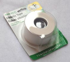 Sport athletic adhesive tape white 1 1/2 inches x 8 yards #assured