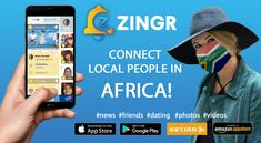 Find new friends in South Africa - ZINGR Finding New Friends, App Store Google Play, You Videos, Connection, Dating, South Africa, Shit Happens, City, People