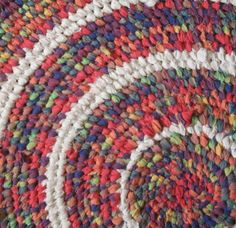 toothbrush rug | Recycled Rainbow Toothbrush Rug - Folksy